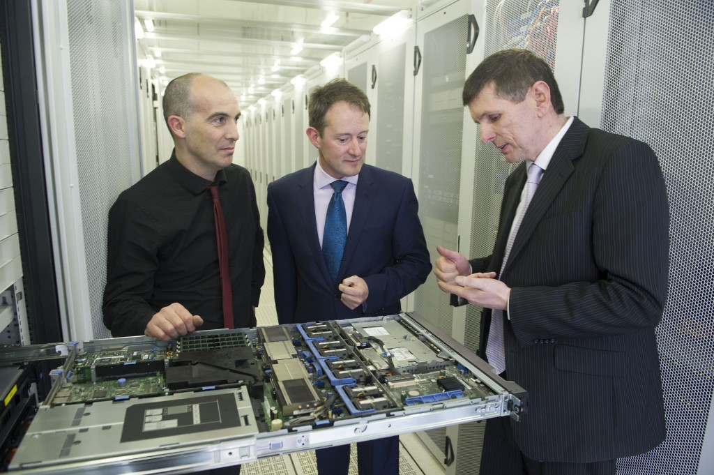 From Left: Sean Ryan, Elive, Sean Sherlock TD  Minister for Research & Innovation and Jerry Sweeney CIX. PIcture Credit : Gerard McCarthy