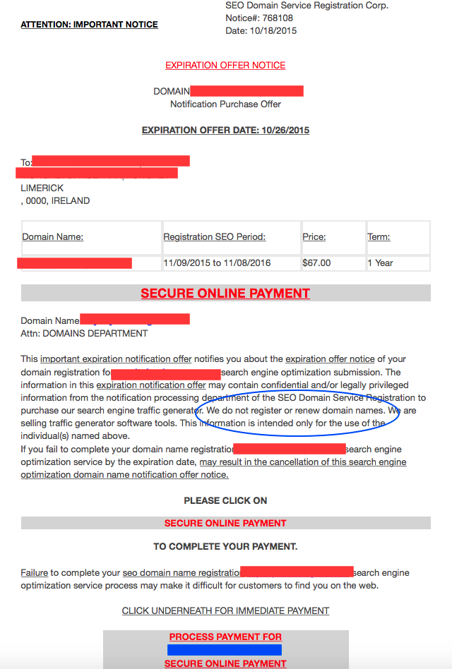 how to get registration renewal notice ontario