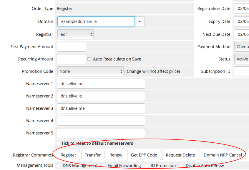 WHMCS IEDR Registrar Module | Elive Internet Business