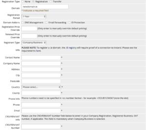 admin register domain